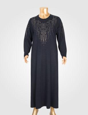 HESNA 6017 BASKILI ELBİSE
